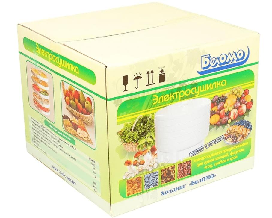 Сушилка для овощей и фруктов БЕЛОМО 8360 белый, 500 Вт, 20 л, кол. уровней: 5, корпус: пластик , форма: круглая - фото 10215