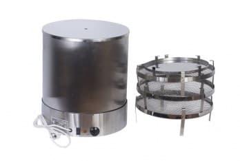 Коптильня электрическая ЭЛВИН НЕРЖ , 3 яруса, нерж.сталь, 800 Вт. - фото 10273