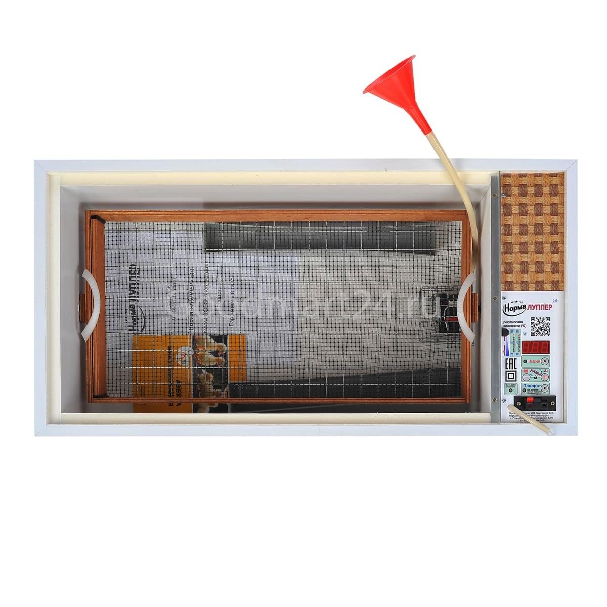 Инкубатор Норма Луппер 72 С8 цифровой 72 Яйца, 220/12В, автомат. поворот фото