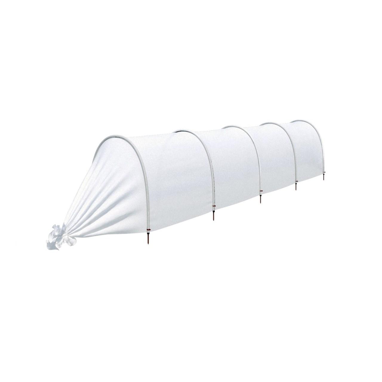 """Парник """"ленивый"""" с укрывным материалом 4,5 метра 4 секции белый фото"""
