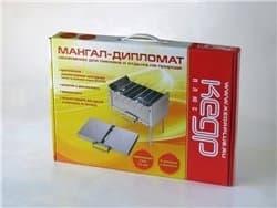 Мангал-Дипломат нержавеющая сталь 410х350х390 Кедр Плюс - фото 4807
