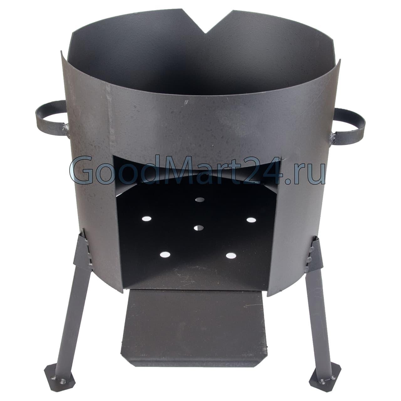 Чугунный казан 8 л. Балезинский ЛМЗ + Печь d-340 мм сталь 2 мм. - фото 4838