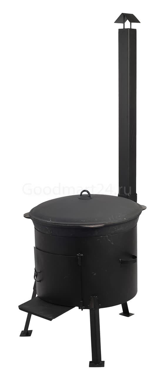 Чугунный казан 25 л. Балезинский ЛМЗ + Печь с трубой усиленная s- 3 мм. - фото 4921