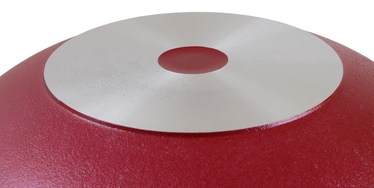 Казан с декоративным покрытием 4,5 л. Бордовый с крышкой Kukmara - фото 4967