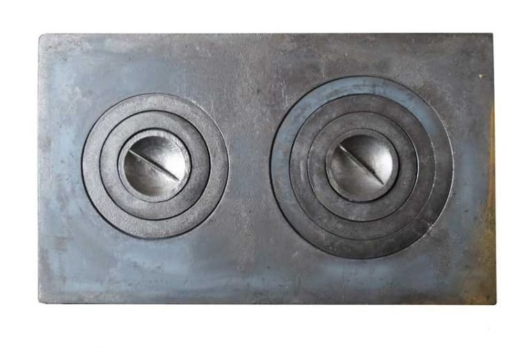 Плита чугунная под казан двухконфорочная,П2-3 710х410 мм. Балезинский ЛМЗ - фото 5199