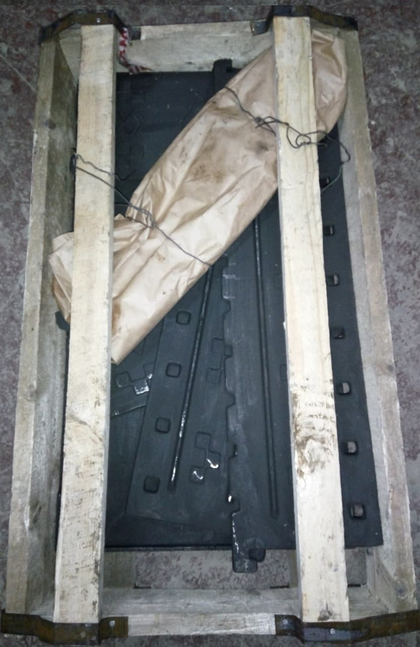 Чугунный мангал, разборный, на 10 шампуров Балезинский ЛМЗ - фото 5359