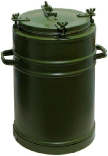 Армейский термос 25 л. с колбой из нержавеющей стали - фото 5705