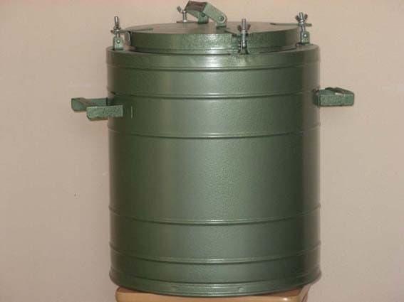 Армейский термос 25 л. с колбой из нержавеющей стали - фото 5706