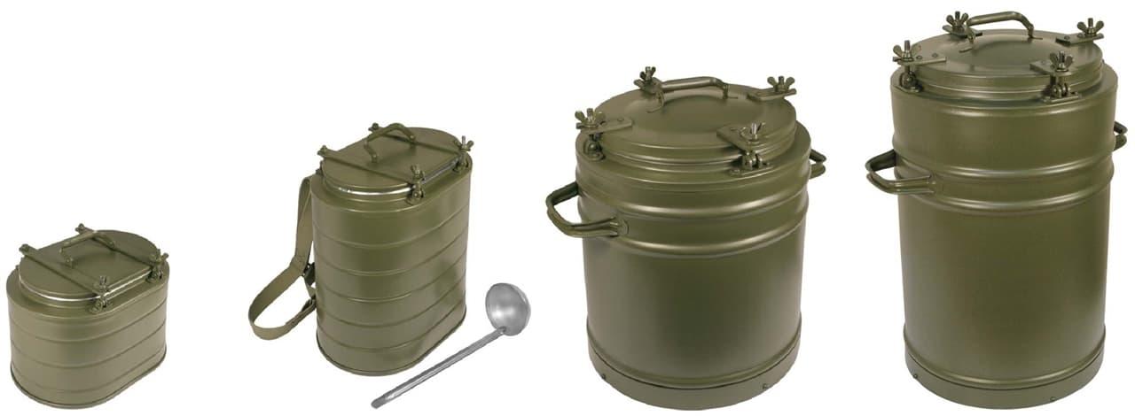 Армейский термос 25 л. с колбой из нержавеющей стали - фото 5707