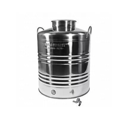 Традиционная бочка с краном на 50 литров из нержавеющей стали Sansone - фото 6089