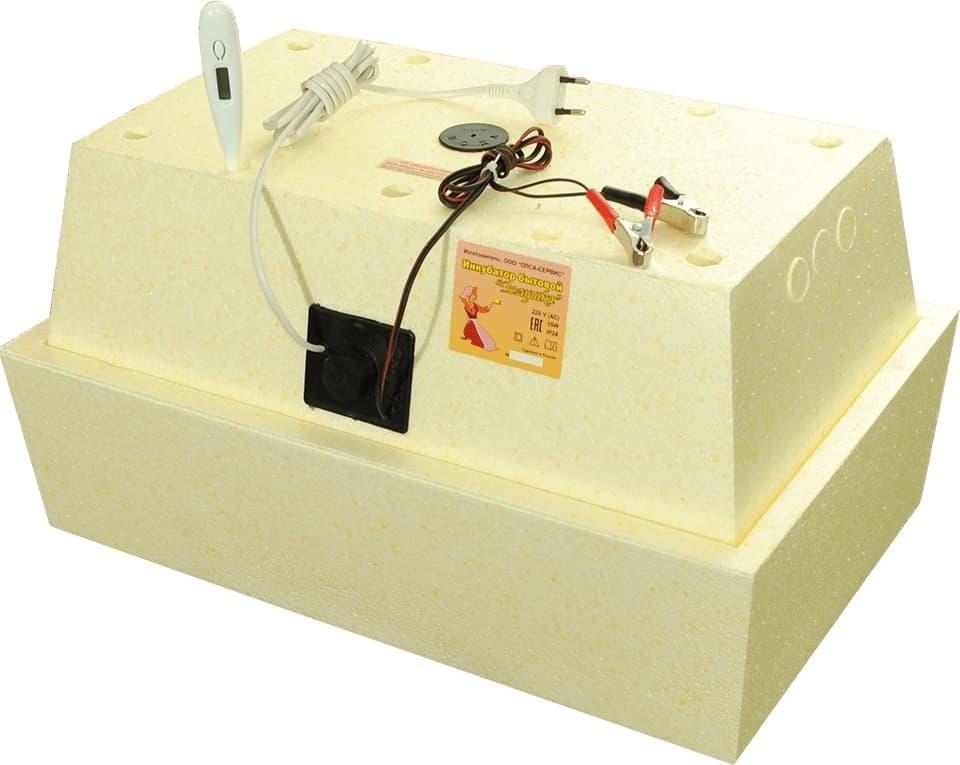 Инкубатор Золушка 45 яиц, ручной переворот,220/12В, цифровой терм. - фото 6157
