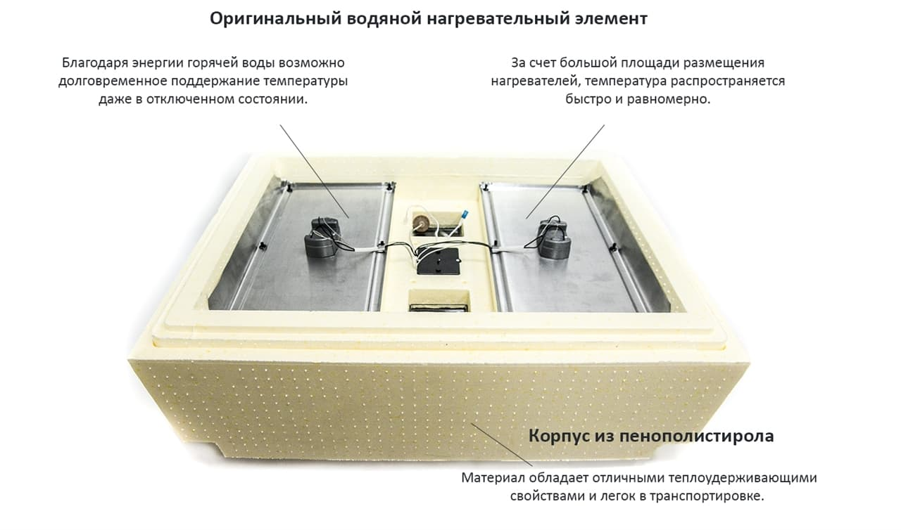 Инкубатор Золушка 28 яиц, автопереворот, 220/12В, аналоговый терм., гигрометр - фото 6190
