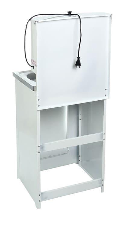 Умывальник дачный с подогревом (1,25 кВт), мойка нерж, 17 л. Акватекс, белый - фото 6239