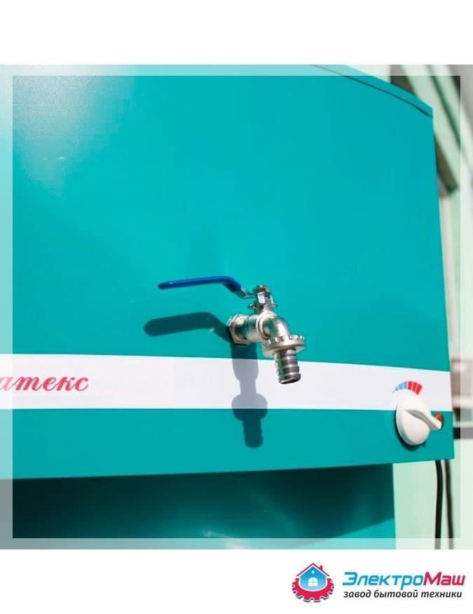 Умывальник дачный с подогревом (1,25 кВт), мойка нерж, 17 л. Акватекс, лагуна - фото 6252