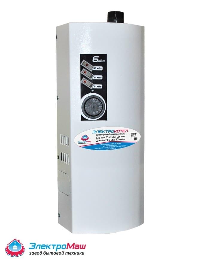 Электрокотел отопления Электромаш ЭВПМ - 6 кВТ - фото 6285