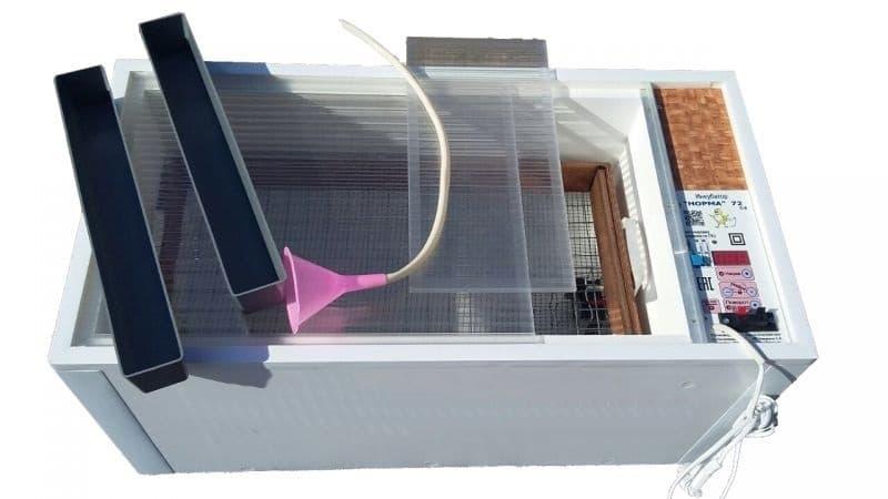 Инкубатор Норма Луппер 72 С8  Цифровой 72 яйца, 220/12В, автомат. поворот, регулировка влажности - фото 6335