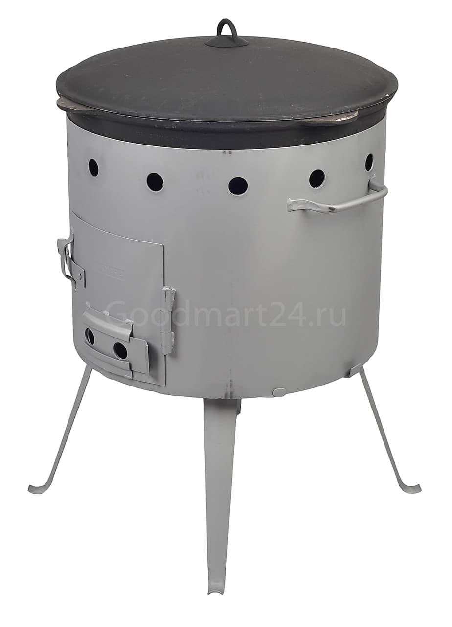 Чугунный казан с крышкой 4 л. Балезино и печь KUKMARA - фото 6566