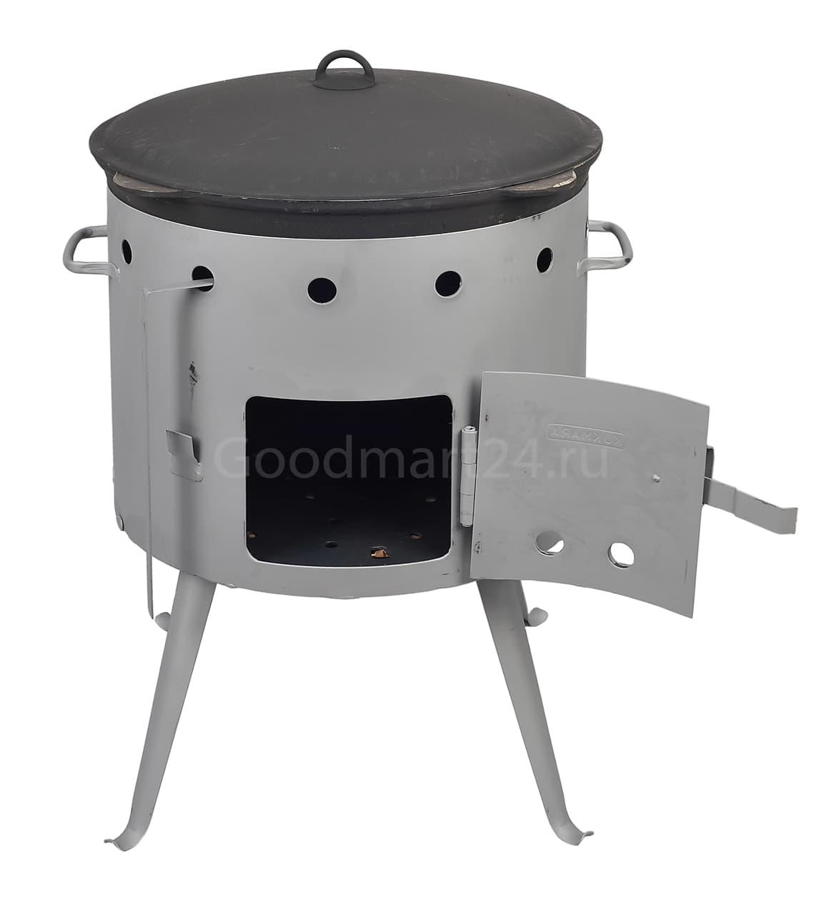 Чугунный казан с крышкой 25 л. Балезино и печь KUKMARA - фото 6608