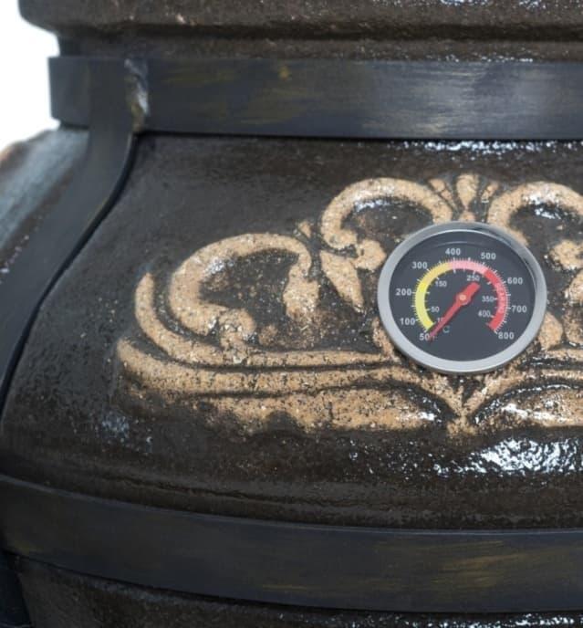 Тандыр Гранд с подставкой под крышку, чёрный, Эко - фото 6841