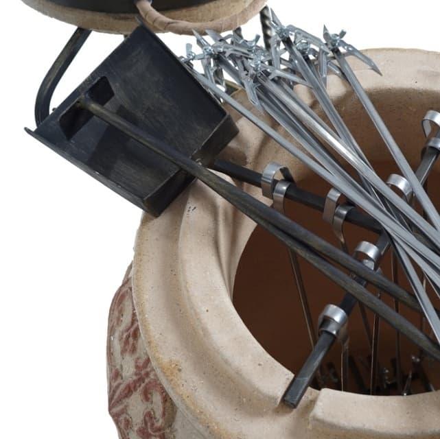 Тандыр Гранд с подставкой под крышку, слоновая кость, Эко - фото 6858