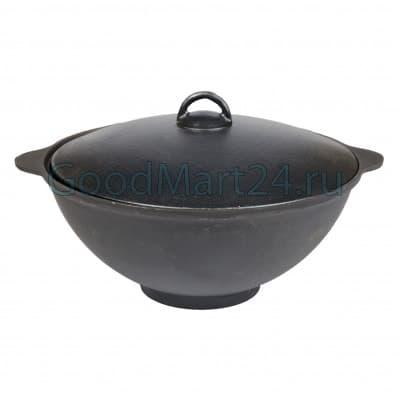 Чугунный казан 25 литров БЛМЗ + печь c трубой, поддувалом Grillver 3 мм. - фото 7231