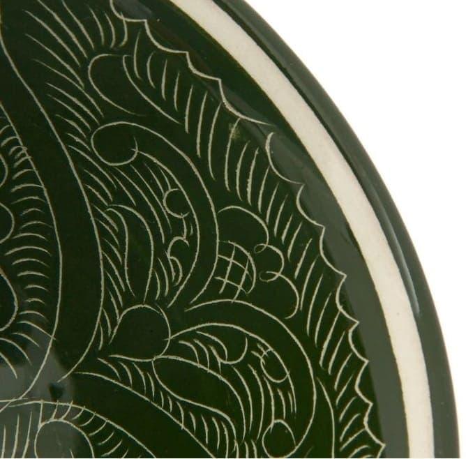 Пиала Риштанская Керамика большая d-11 см. h-5,5 см. зеленая - фото 7441