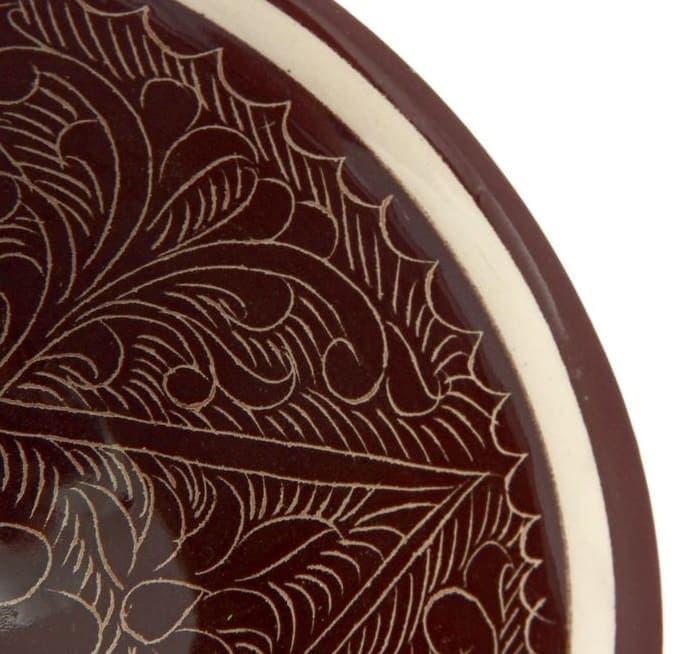 Пиала Риштанская Керамика средняя d-9 см. h-5 см. коричневая - фото 7448