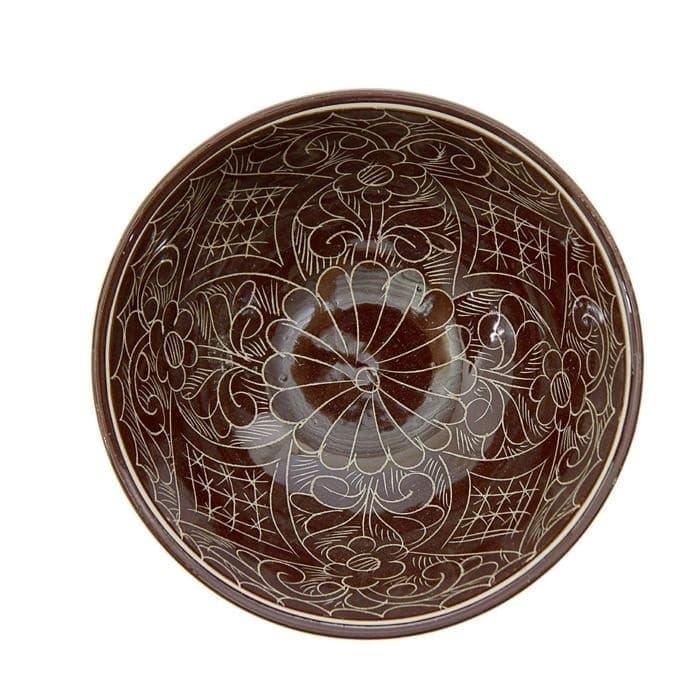Коса для первых блюд Риштанская Керамика малая d-14,5 см. h-7 см. коричневая - фото 7469