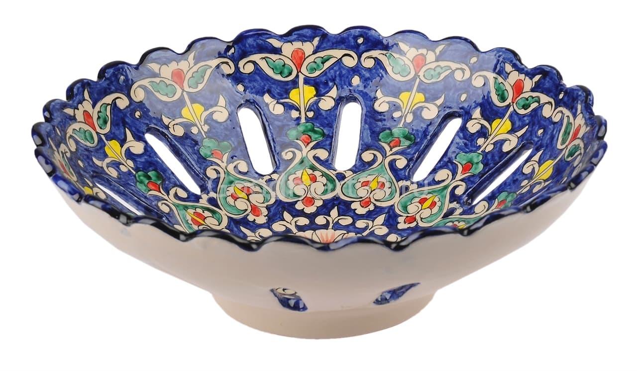 Фруктовница Риштанская Керамика 28 см, микс - фото 7538