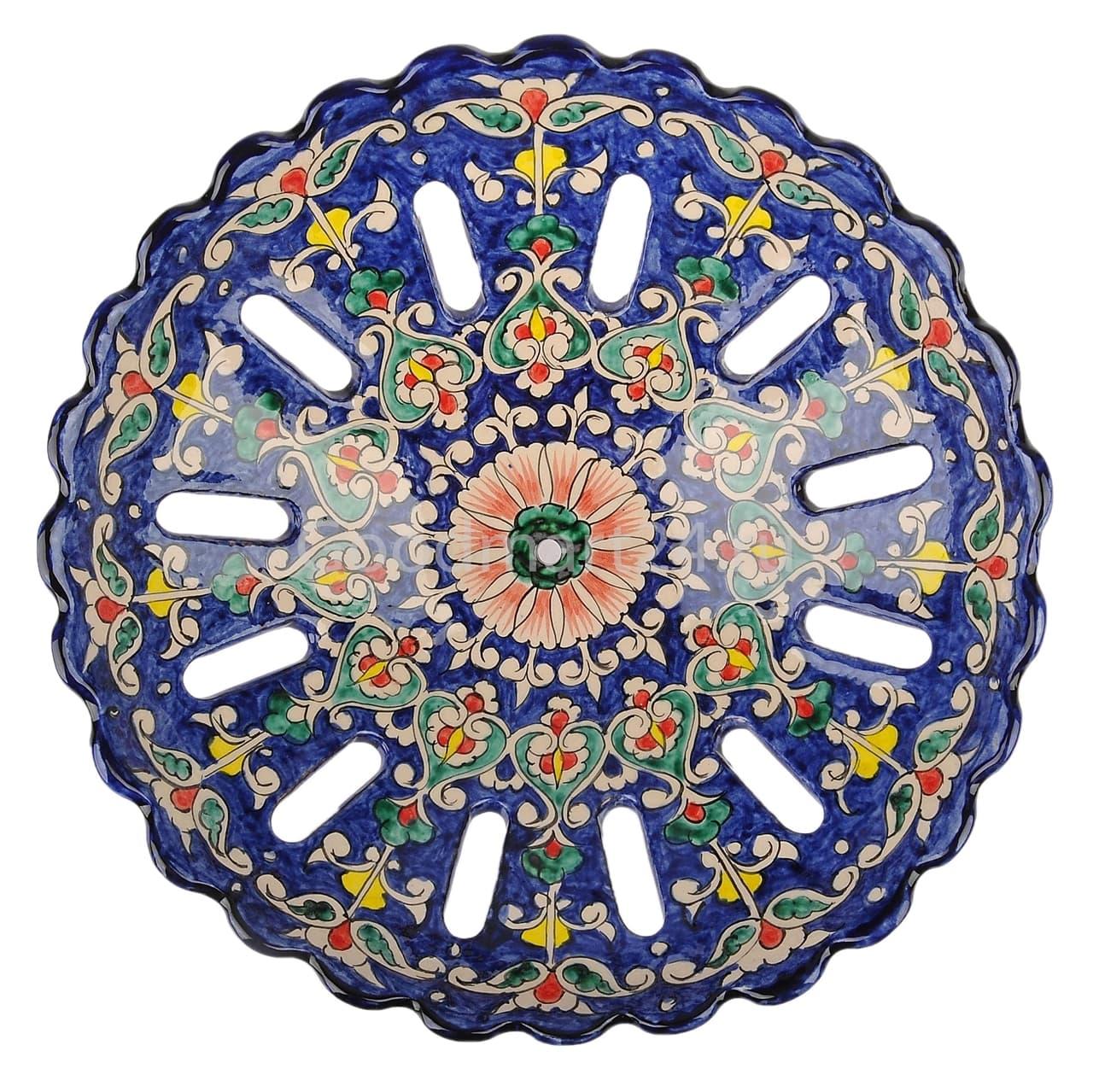 Фруктовница Риштанская Керамика 28 см, микс - фото 7539