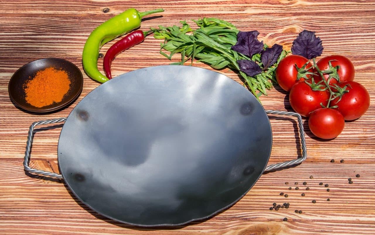Садж сковорода без подставки, нержавеющая сталь, 29 см. - фото 8459
