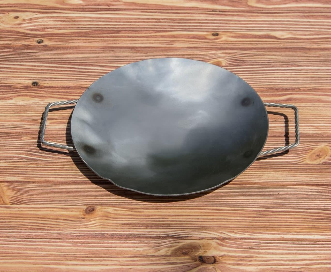 Садж сковорода без подставки, нержавеющая сталь, 29 см. - фото 8460