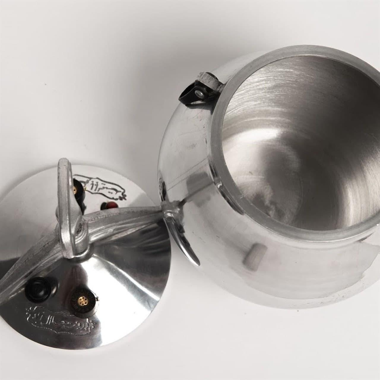 Афганский казан-скороварка 5 литров никелированный, алюминий