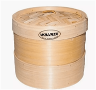 Бамбуковая пароварка Wolmex (2 уровня + крышка) 28 см