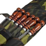 Набор шампуров в чехле, 500х12х3 мм. нерж, дер/ручка, таганок