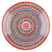 Тарелка плоская 17 см. красный Мехроб