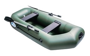 Зелёная лодка Rush 240 фото