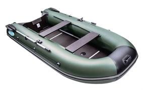 Лодка RUSH 3000 СК зеленый/черный с килевым дном фото