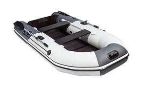 """Светло-серый/Графит ПВХ Лодка Таймень NX 2850 Слань-книжка киль """"Комби"""""""