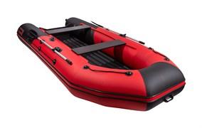Моторно-гребная НДНД лодка Таймень NX 3600 PRO красно-черная для активного отдыха фото