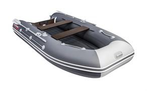 ПВХ Лодка моторно-гребная Таймень LX 3600 НДНД графит/светло-серый