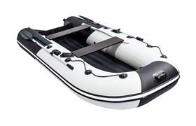 """ПВХ Лодка Ривьера компакт 3200 НДНД """"Комби"""" светло-серый/черный фото"""