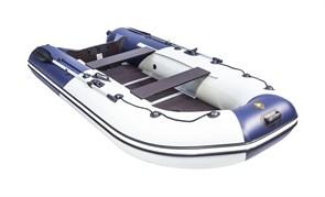 "Лодка Ривьера компакт 3400 СК ""Комби"" светло-серый/синий фото"