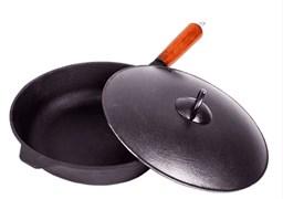 Сковорода 240/50-1 КАЛД чугунная БЛМЗ с алюминиевой крышкой фото
