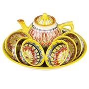 Набор чайный риштанская керамика 9 предметов фото