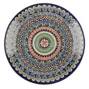 Ляган Риштанская Керамика 46 см. плоский, синий фото