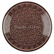 Ляган Риштанская Керамика 46 см. плоский, коричневый