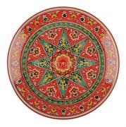 Ляган Риштанская Керамика 32 см. плоский, Qora galam фото