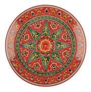Ляган Риштанская Керамика 38 см. плоский, Qora galam фото