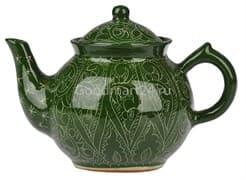 Чайник заварочный Риштанская Керамика 0.7 л. зеленый фото